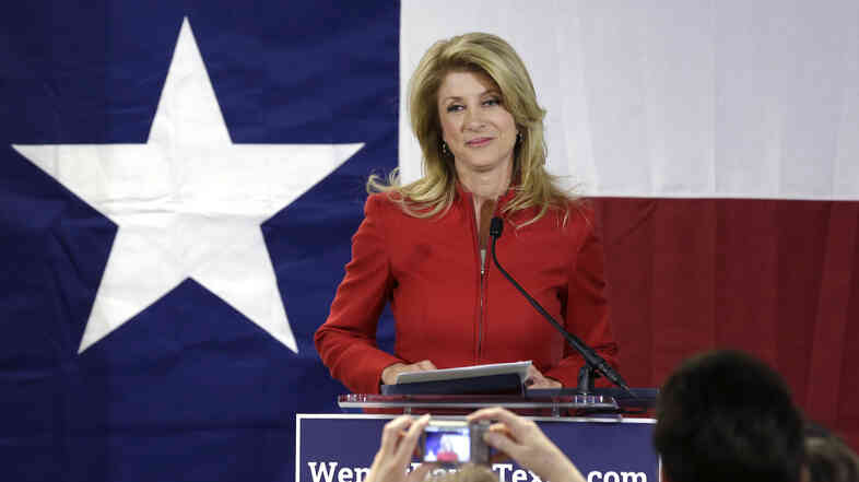 Democratic state Sen. Wendy Davis pauses as she speaks to supporters at her campaign headquarters in Fort Worth, Texas, in March.