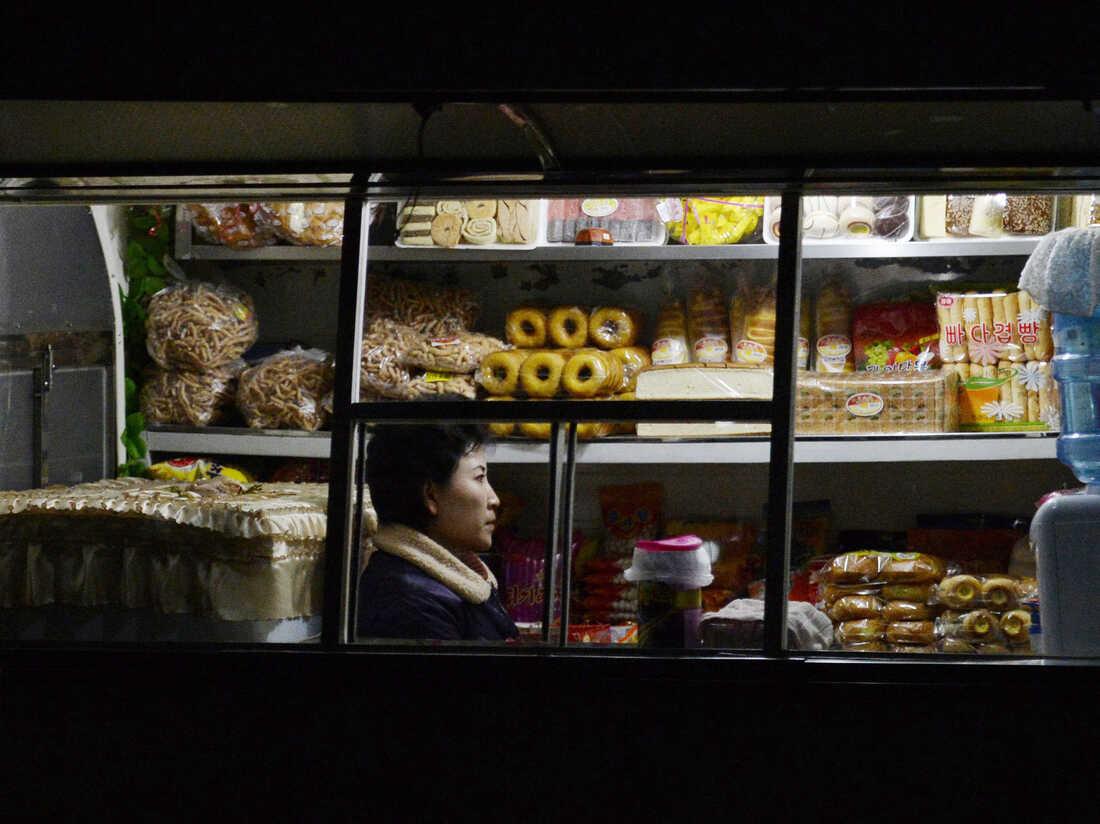 PYONGYANG, North Korea - Photo shows a food shop in Pyongyang on Feb. 11, 2014. Kyodo /Landov