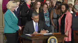 House Republicans argue the illegality of executive action signings, like one in April 2014 in which President Obama acted to close the gender compensation gap among federal contractors.