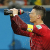 Portugal's Cristiano Ronaldo takes a water break during the 2014 World Cup soccer match between Portugal and the U.S. in Manaus, Brazil, on June 22.