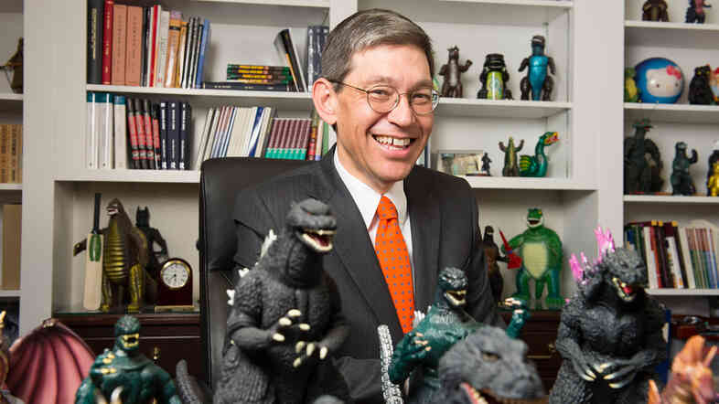 For William Tsutsui, incoming president of Hendrix College and author of Godzilla On My Mind, the iconic lizard is an obsession and an inspiration.