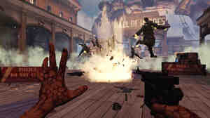 The video game BioShock Infinite took players to an alternate U.S. and a story filled with philosophy and a rich narrative — but also a lot of violence.