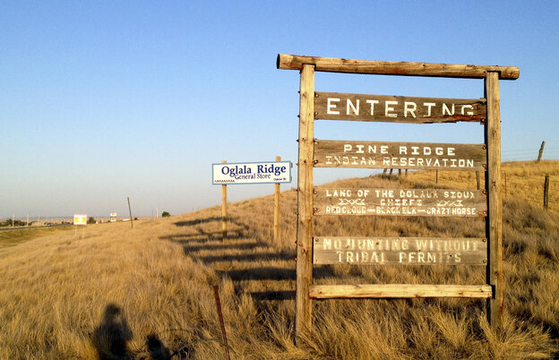 """Signs marking the entrance to the Pine Ridge Indian Reservation in South Dakota make it clear when you're literally """"off the reservation,"""" but the figurative meaning of the phrase has shifted over time."""