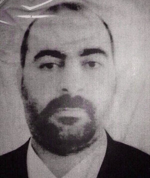 The official website of Iraq's Interior Ministry claims this picture shows Abu Bakr al-Baghdadi, the head of the so called Islamic State of Iraq and Syria.
