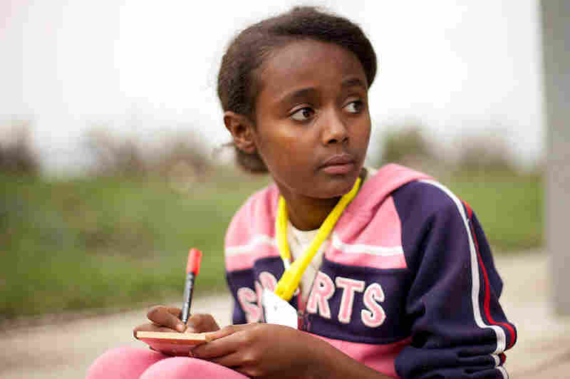 """""""I want to be a volunteer. I want to be involved in activities like helping orphans and I want to come up with a cure for HIV and cancer."""" - Hlwot, 13, Ethiopia"""