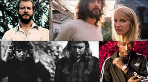 Clockwise from upper left: Justin Vernon of Bon Iver, Luluc, Freddie Gibbs, Tim Presley and Ty Segall of White Fence
