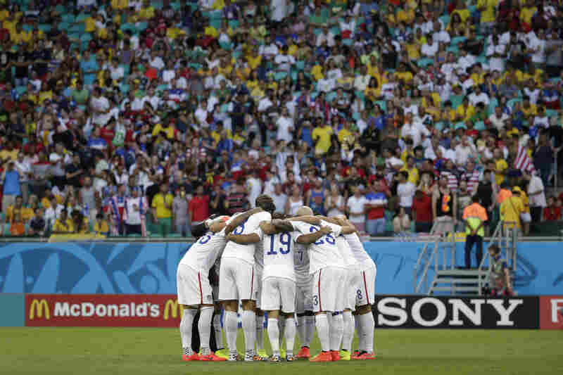 The U.S. team is taking on Belgium for a chance to move on to the quarterfinals.