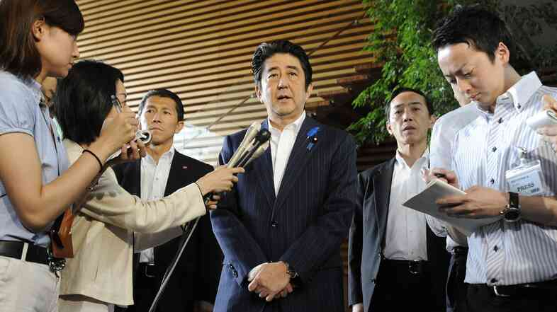 At his official residence in Tokyo on Thursday, Japanese Prime Minister Shinzo Abe told reporters he intends to revoke some unilateral sanctions against North Korea.