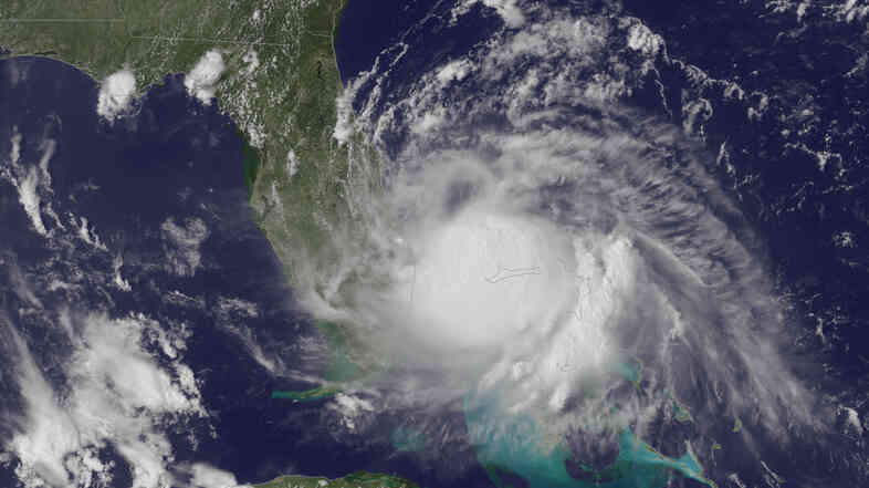 Arthur churns off the east coast of Florida.