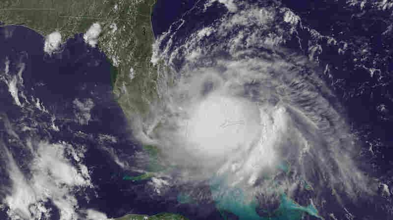 Arthur churns off the east coast of Florida.