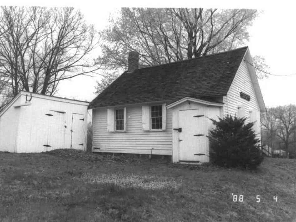 The West Street Schoolhouse in Southington, Ct., was built around 1760. It was heated with a potbellied wood stove.