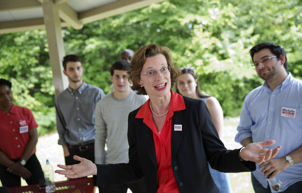 When it comes to the Supreme Court's Hobby Lobby ruling, Georgia Democratic Senate candidate Michelle Nunn must navigate between her state's conservative electorate and her national party.