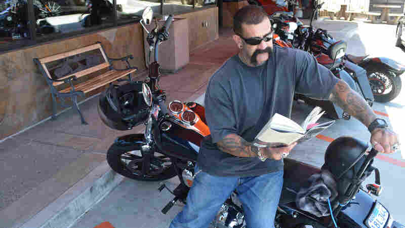 """Biker Ron Hamberg says he's read Dickens, Twain and Gandhi's autobiography, but as for books about motorcycles, """"I just ride 'em, I don't read about 'em."""""""