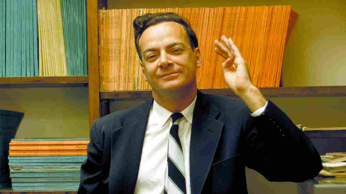 Physicist and mathematician Richard Feynman at the California Institute of Technology, in Pasadena, California, in 1959.