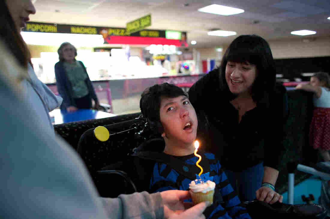 Justin Lee just turned 16. To celebrate, his parents rented out a roller rink and invited other children with cerebral palsy and their families.