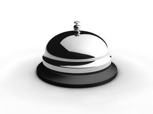 A service bell at a hotel.