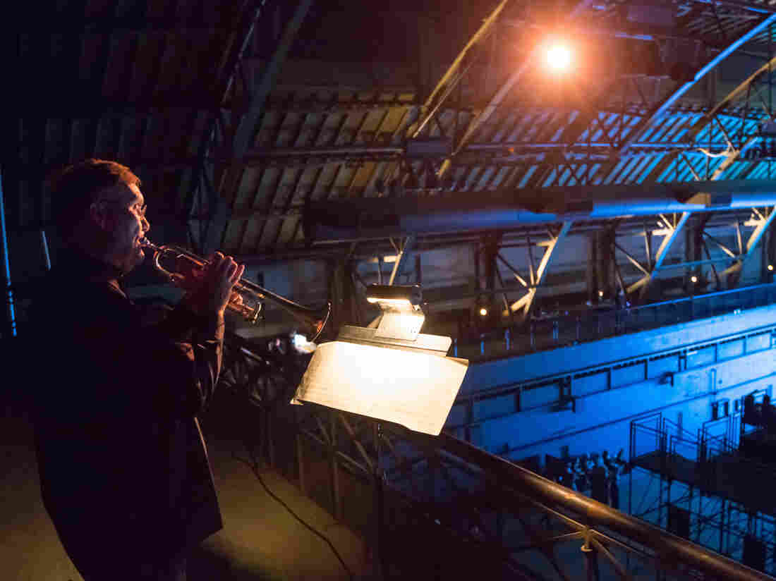 New York Philharmonic principal trumpeter Philip Smith plays at New York's Park Avenue Armory in a performance in June 2012.