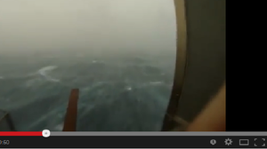Screen grab of video showing Hurricane Arthur passing by Frying Pan Tower, a bed and breakfast located 30 miles off the North Carolina coast.