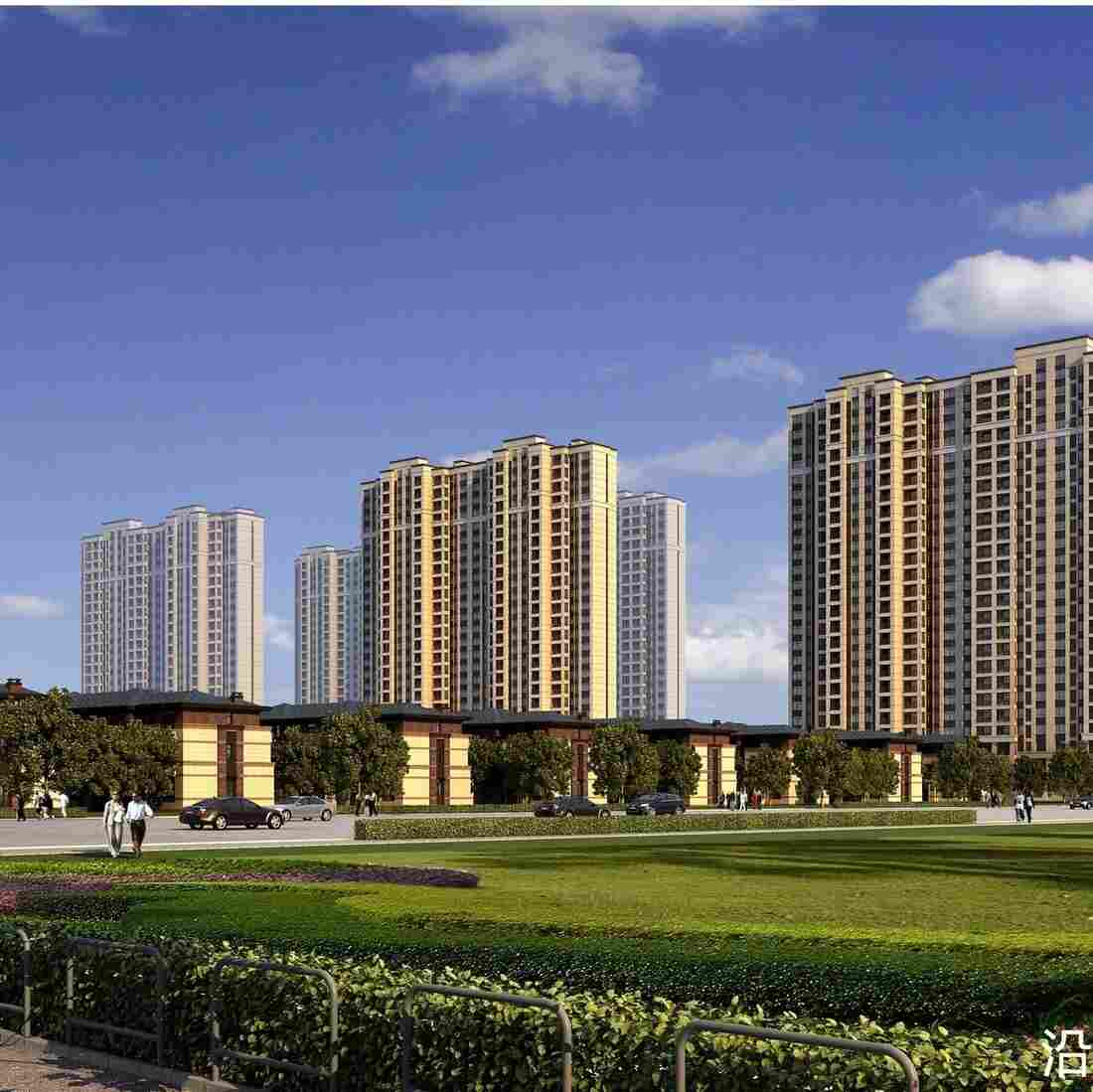 Apartments are still under construction in Wuxi, outside Shanghai, despite a glut in the market and almost no local demand. This development is to have 2,500 residential units.