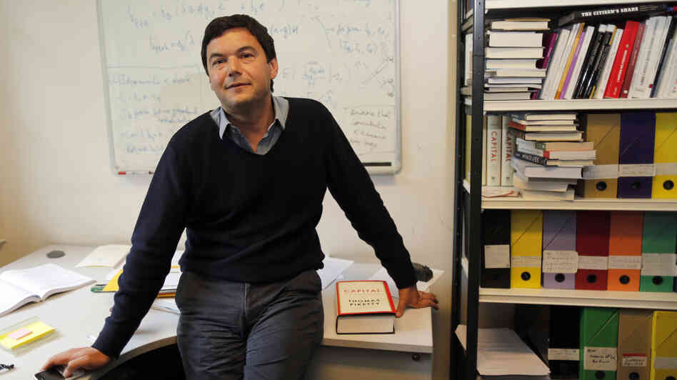 French economist and academic Thomas Piketty, in his book-lined office at the French School for Advanced Studies in the Social Sciences, in Paris.