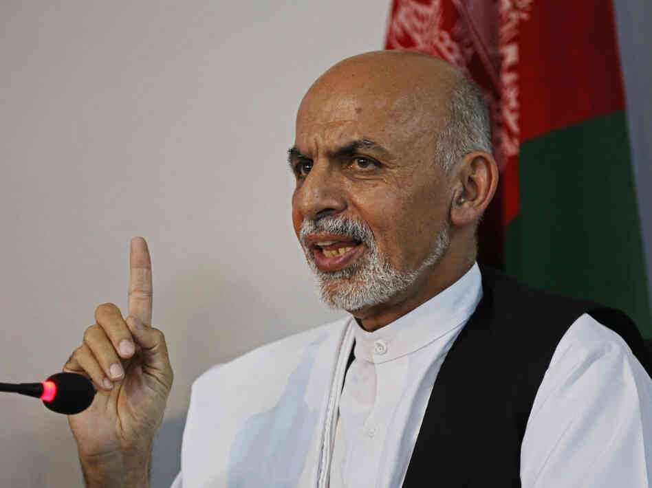 Afghanistan's presidential candidate Ashraf Ghani leads his rival, Abdullah Abdullah, in the Afghan presidential runoff.