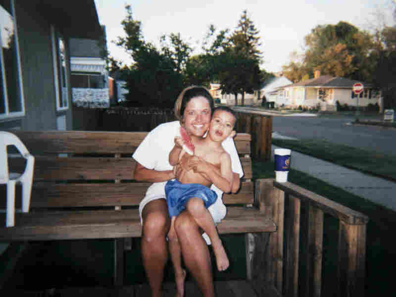 Amy Myers and Kamron, then age 3, in Pocatello, Idaho.