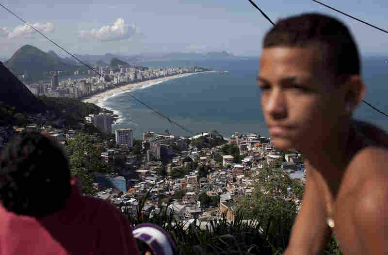 One of Rio's most famous tourist attractions, Ipanema beach, is visible from Vidigal.