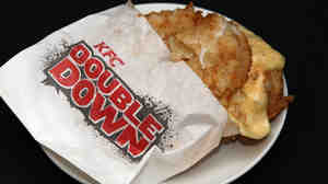 When there's no bun involved, is it a sandwich? The KFC Double Down is bacon and cheese sandwiched between two pieces of chicken.
