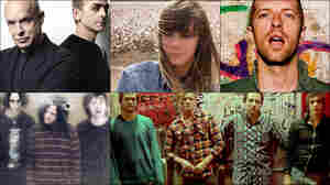 Top row, left to right: Brian Eno and Karl Hyde, Cat Power; Middle row: The Wytches, Chris Martin of Coldplay; Bottom row: Broncho.