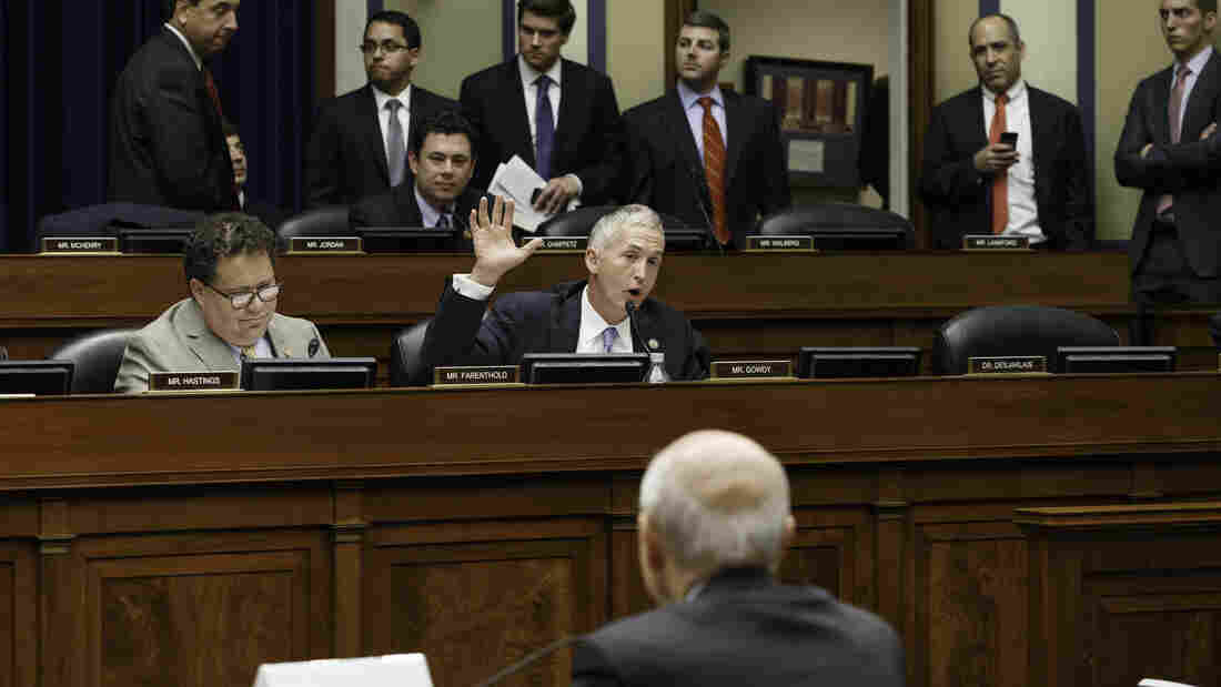 Rep. Trey Gowdy, R-S.C., grills Internal Revenue Service Commissioner John Koskinen as he testifies June 23 before the House Oversight Committee.