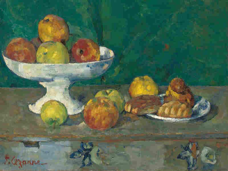 Apples and Cakes (Pommes et gateaux) by Paul Cezanne, 1873-1877.