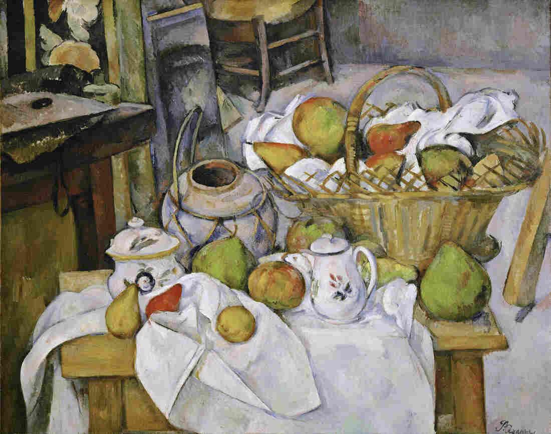 """The Kitchen Table (La table de cuisine) by Paul Cezanne, 1888-18€""""90."""