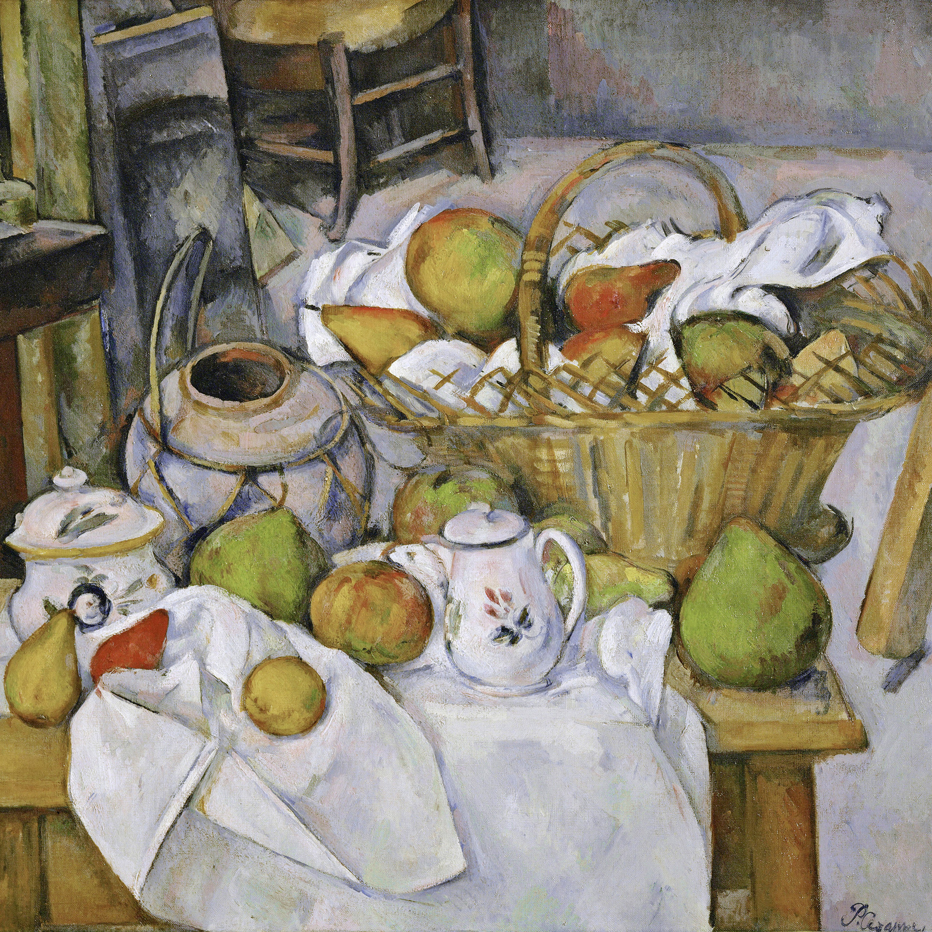 The Kitchen Table (La table de cuisine) by Paul Cezanne, 1888-18��90.