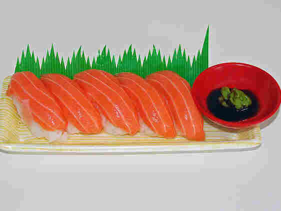 Luxury goods, like raw salmon, generally command high prices.