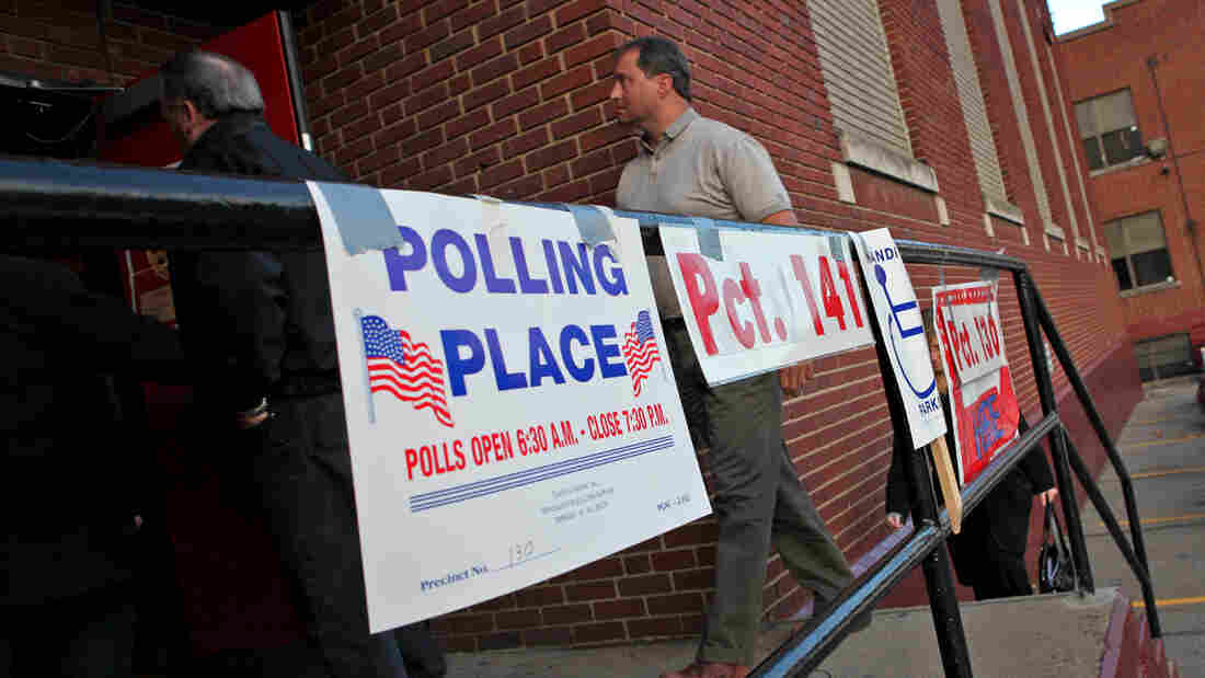 Voters go to the polls in Wheeling, W.Va., in November 2010.