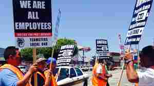 Picketing Truckers Raise Tensions At LA Port Amid Dockworker Talks