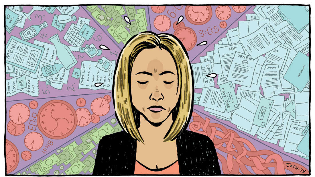 Stress takes a toll on the brain.