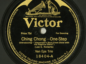 """An album cover for Lee S. Roberts and J. Will Callahan's 1917 song """"Ching Chong."""""""