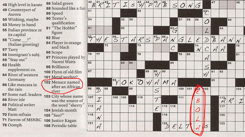 Ebola Invades The New York Times Sunday Crossword Goats And Soda
