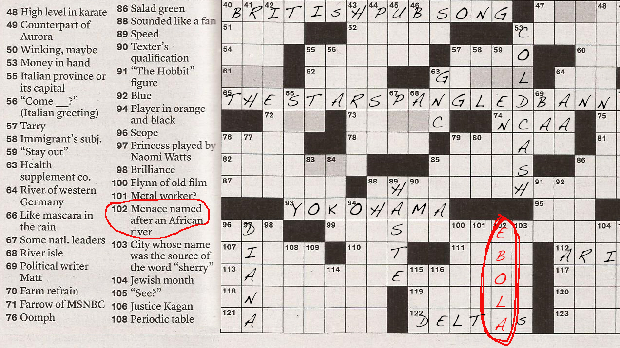 image relating to Nyt Sunday Crossword Printable titled Ebola Invades The Fresh new York Days Sunday Crossword : Goats