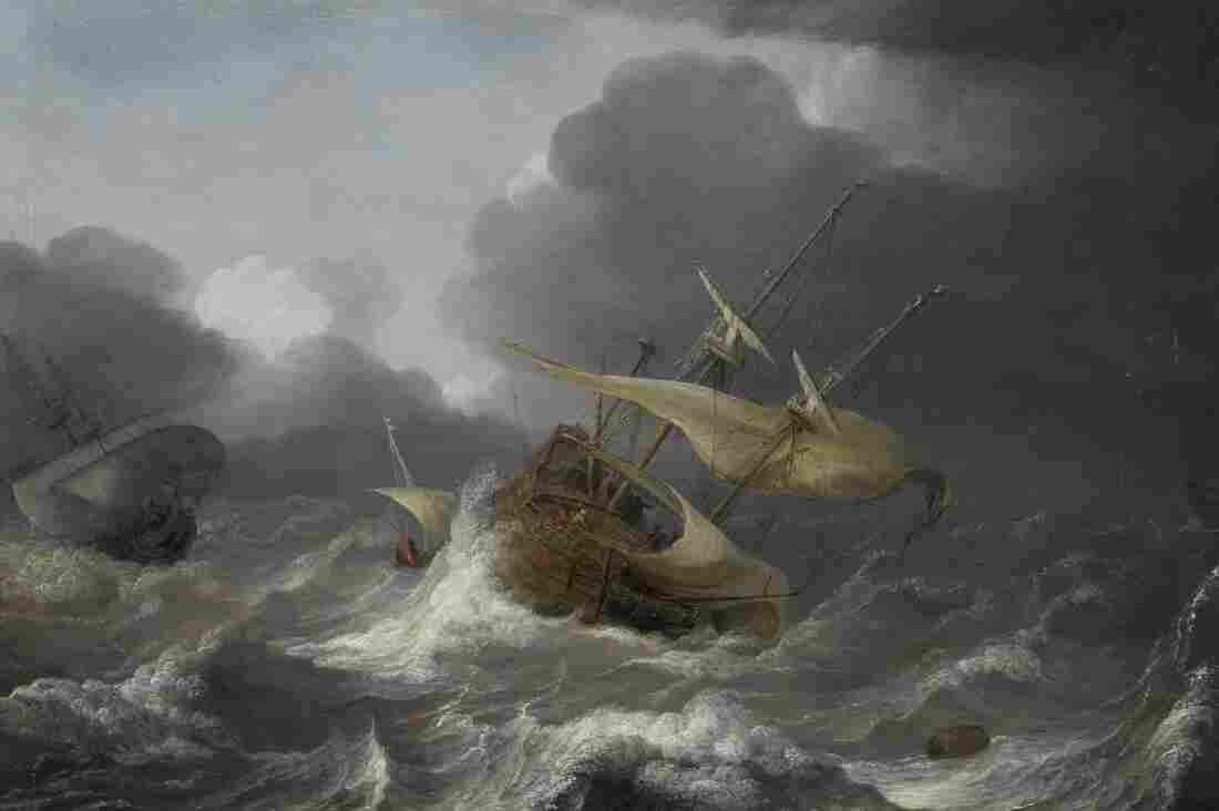 Jan Porcellis' Dutch Ships in a Gale