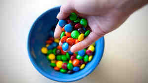 In a recent study, participants who focused on the exercise of walking ate more M&M's than people who focused on music while walking.