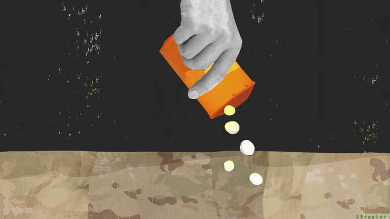 Many servicemen and women are prescribed a mountain of pills for PTSD, pain and other conditions. But some don't want to be on those meds, so they stop taking them — against doctors' orders.
