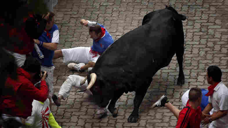 Wounded Bull-Runner: 'If You Run Long Enough, You Get Gored'
