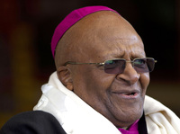 Archbishop Desmond Tutu, who was awarded the Nobel Peace Prize for his part in fighting apartheid, photographed in India in 2012.