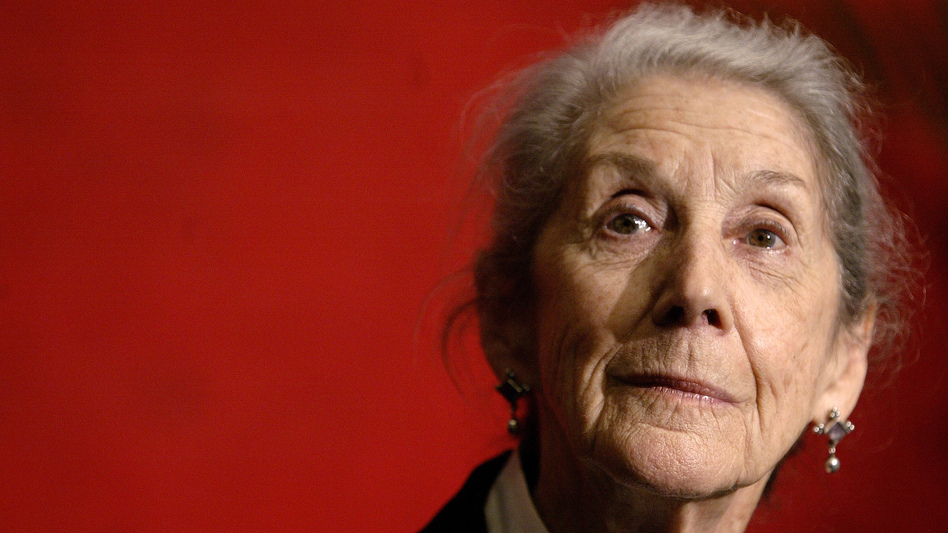 Gordimer, shown here in 2006, died in her sleep Sunday at home in Johannesburg, South Africa.