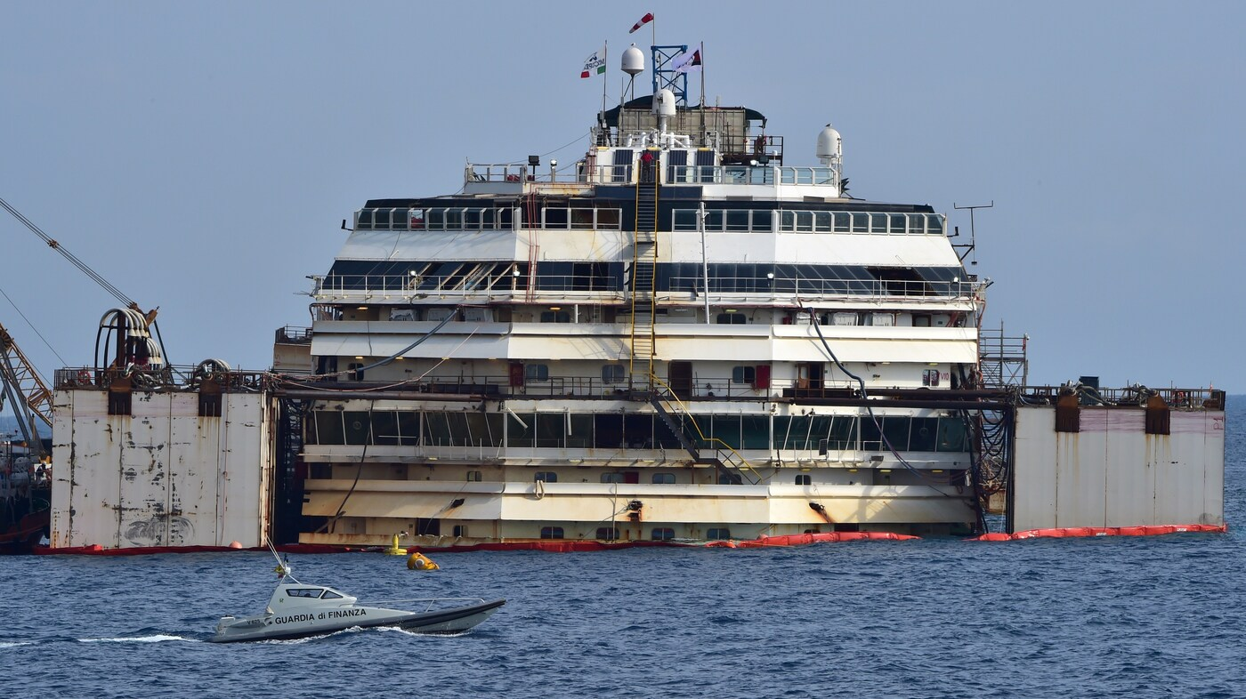 Costa Concordia Cruise Ship Floats Again, After 2 Years