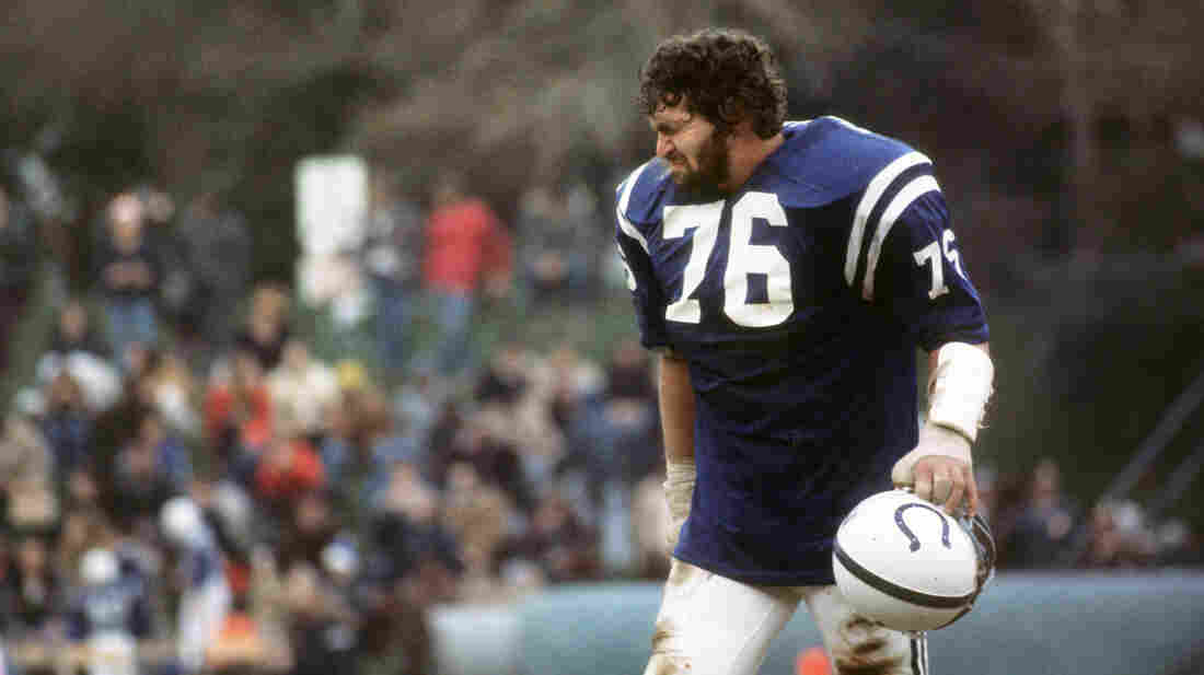 Joe Ehrmann, shown in 1975, was a defensive lineman with the Baltimore Colts for much of the '70s. He says that as a child, he was taught that being a man meant dominating people and circumstances — a lesson that served him well on the football field, but less so in real life.