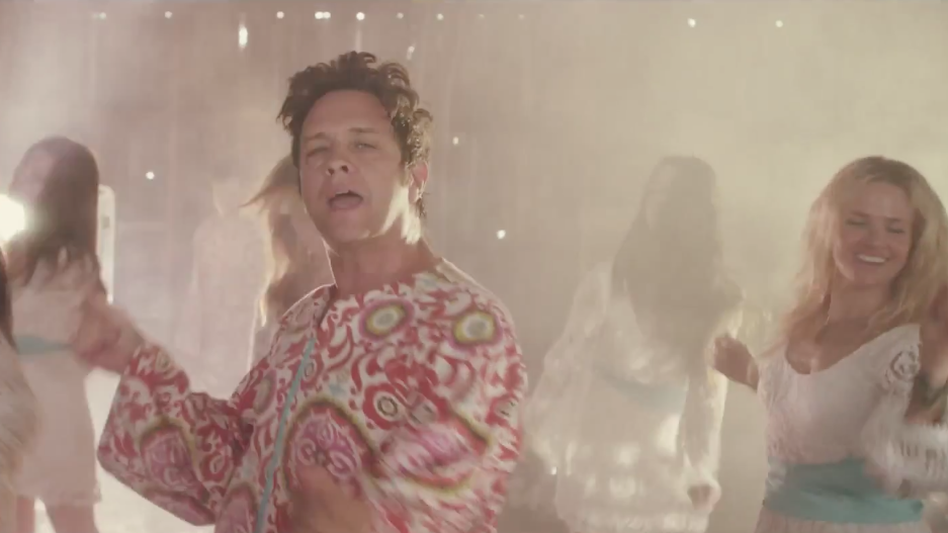 "The Polyphonic Spree, in a scene from the band's new video for the song ""Hold Yourself Up."""