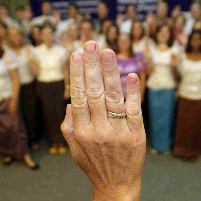 In this 2011 photo, more than 100 Peace Corps volunteers are sworn in before heading to villages in southern Cambodia.